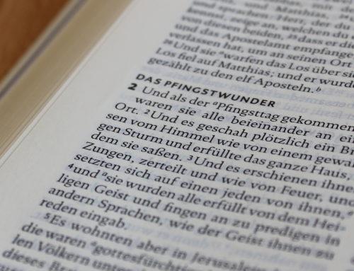 Was bedeutet Pfingsten?